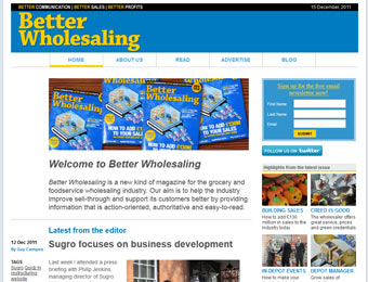 the website homepage