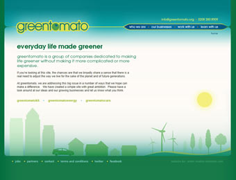 landing page at the greentomato.org portal