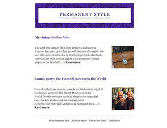Permanent Style automated Mailchimp email campaign