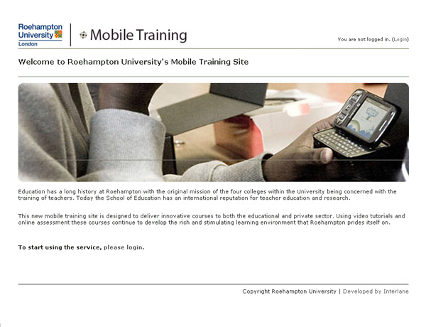 Roehampton University online learning